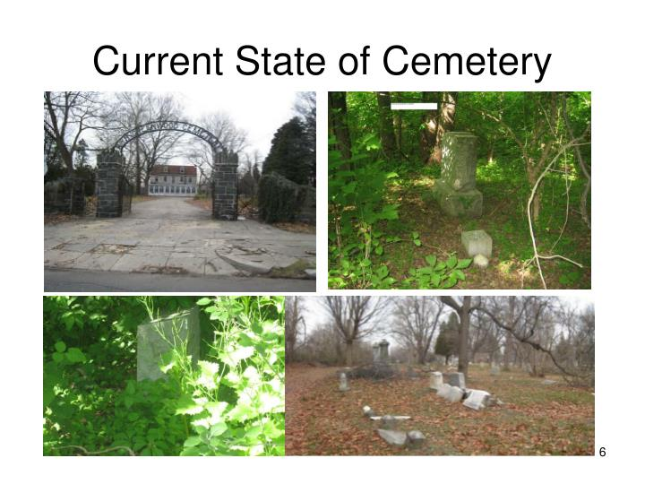 Current State of Cemetery