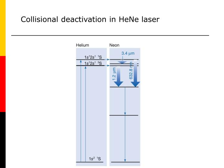 Collisional deactivation in HeNe laser