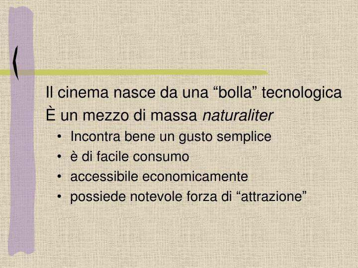 """Il cinema nasce da una """"bolla"""" tecnologica"""