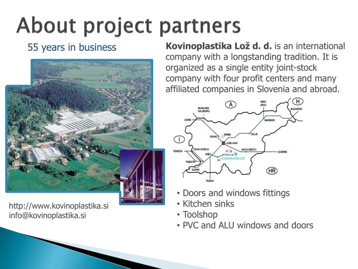 About project partners