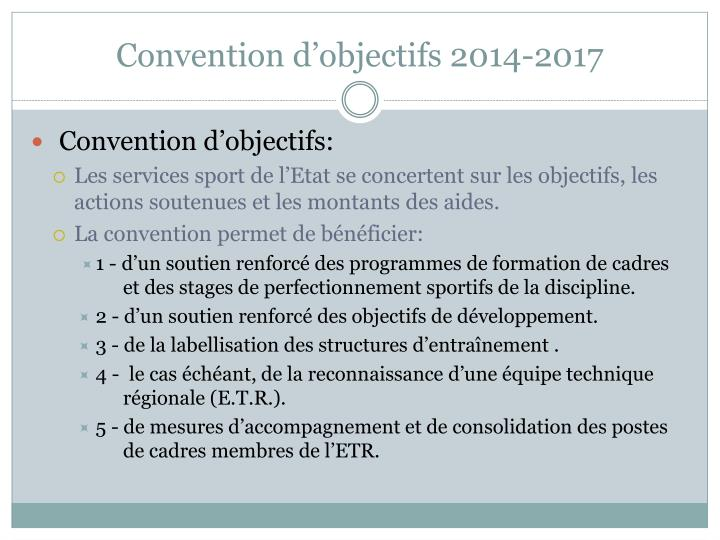 Convention d'objectifs 2014-2017