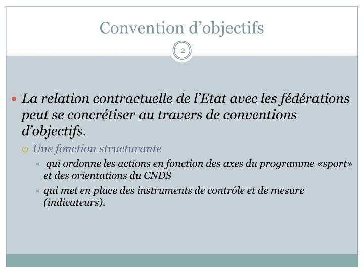 Convention d objectifs