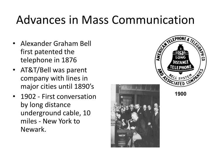 Advances in Mass Communication