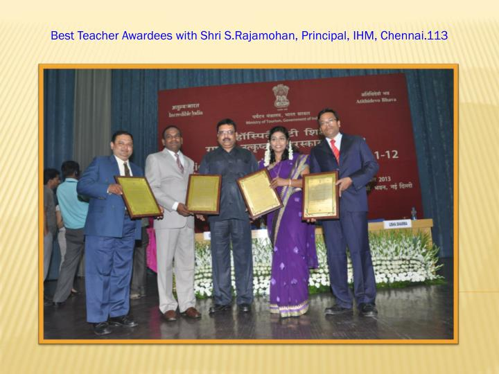 Best Teacher Awardees with
