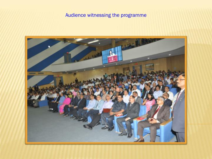 Audience witnessing the