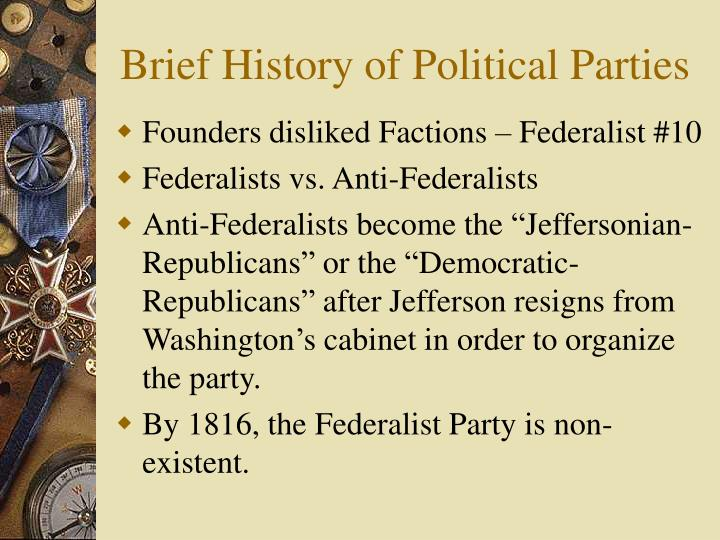 a history of the federalist party and the whigs American history essays: american political parties search  ended the federalist party  policies became known as the whigs the whig party ended over the.