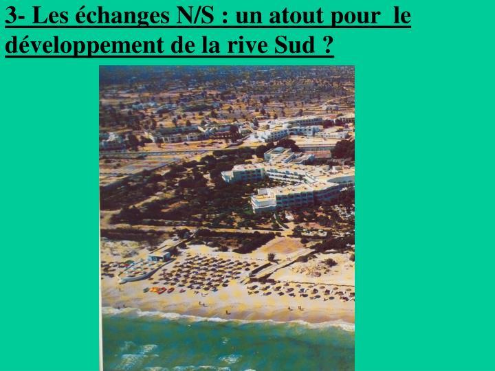 3- Les échanges N/S: un atout pour  le développement de la rive Sud?