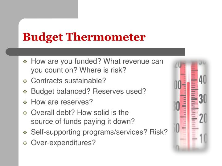 Budget Thermometer
