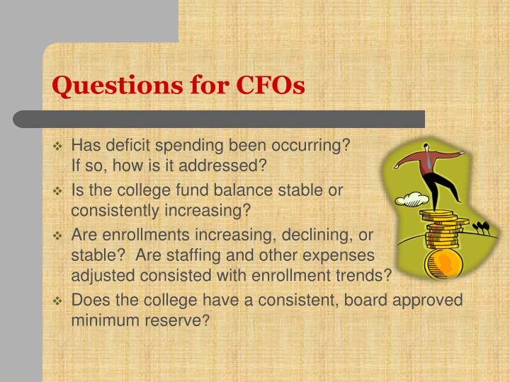 Questions for CFOs