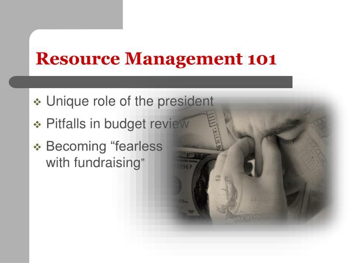 Resource Management 101