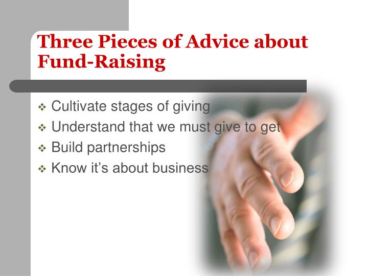 Three Pieces of Advice about