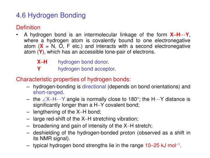4.6 Hydrogen Bonding