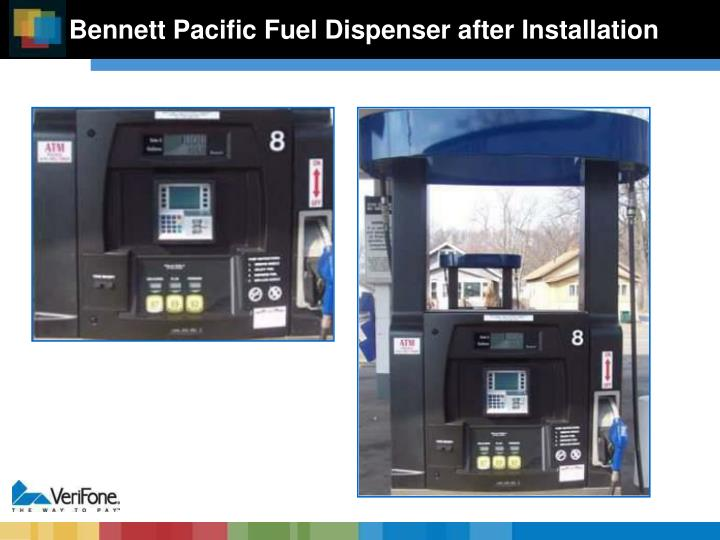 Bennett Pacific Fuel Dispenser after Installation