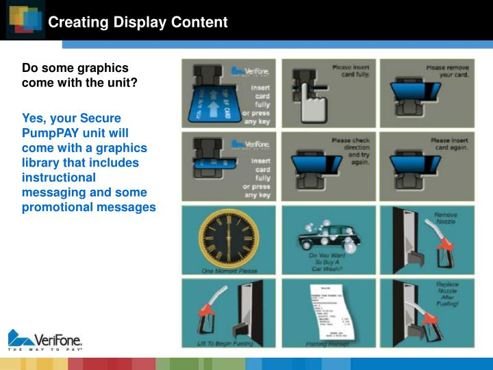 Creating Display Content