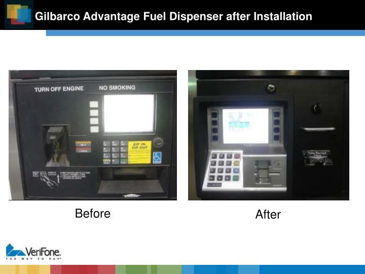 Gilbarco Advantage Fuel Dispenser after Installation
