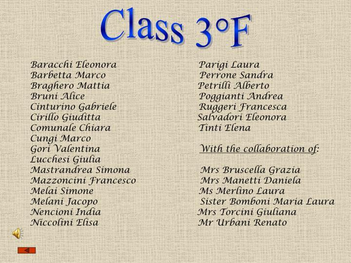 Class 3°F