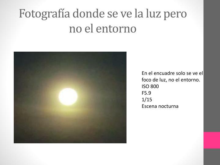 Fotografía donde se ve la luz pero no el entorno