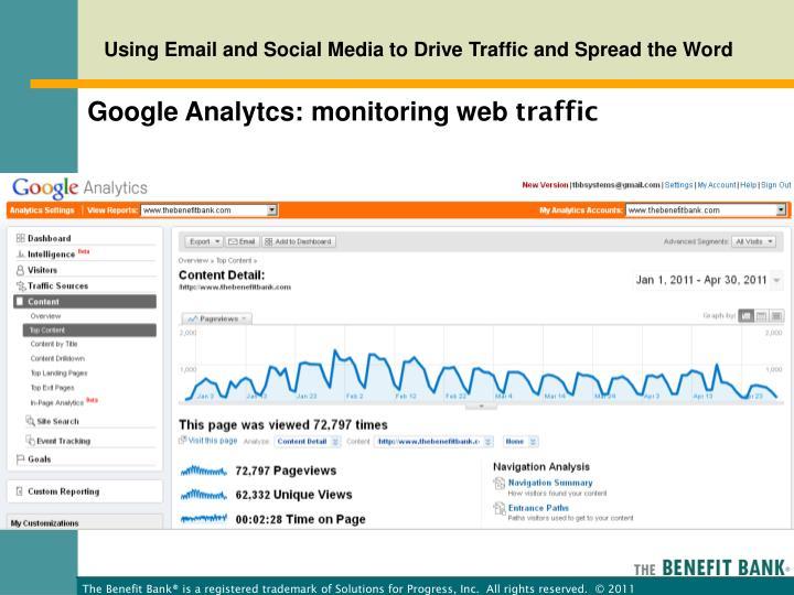 Google Analytcs: monitoring web