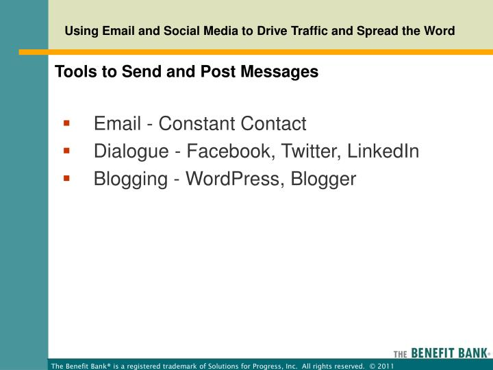 Tools to Send and Post Messages