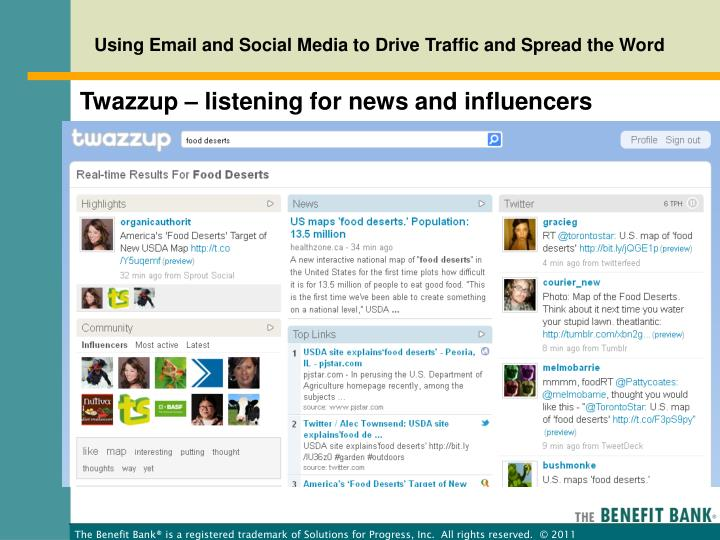 Twazzup – listening for news and influencers
