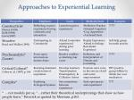 approaches to experiential learning