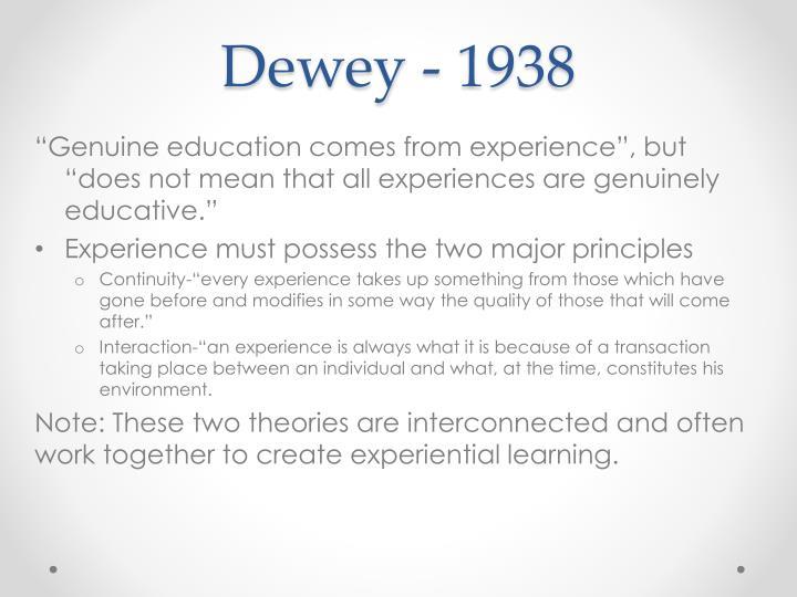 Dewey - 1938