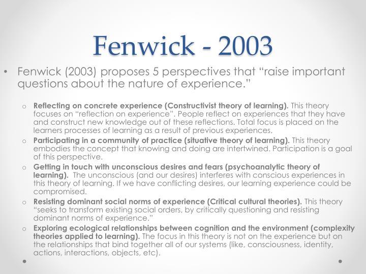 Fenwick - 2003