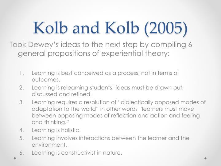 Kolb and Kolb (2005)