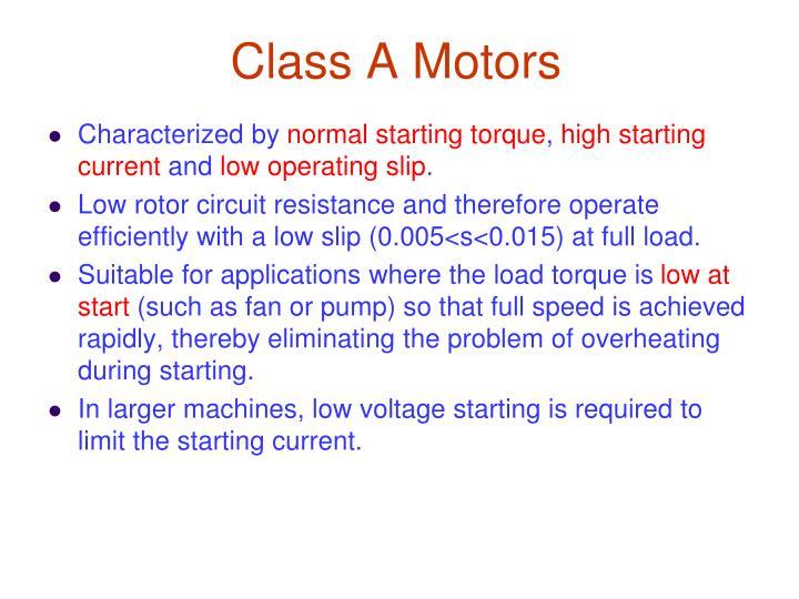 Class A Motors