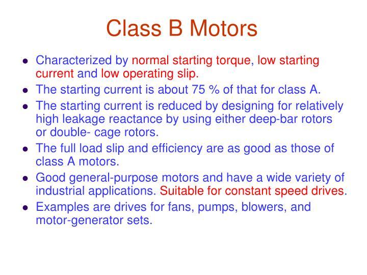 Class B Motors