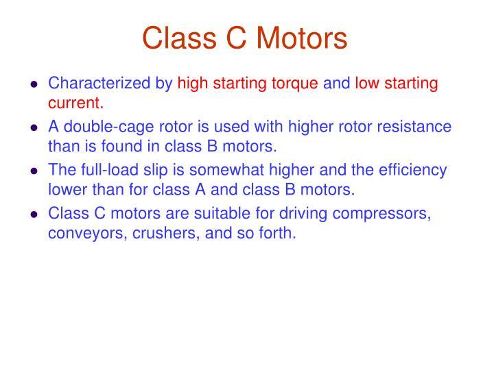 Class C Motors