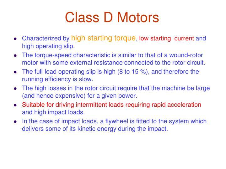 Class D Motors
