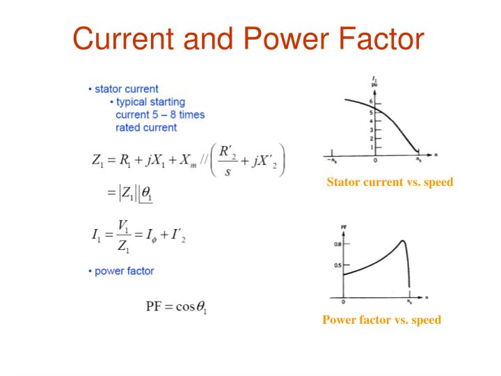 Current and Power Factor