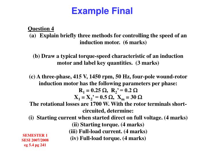 Example Final
