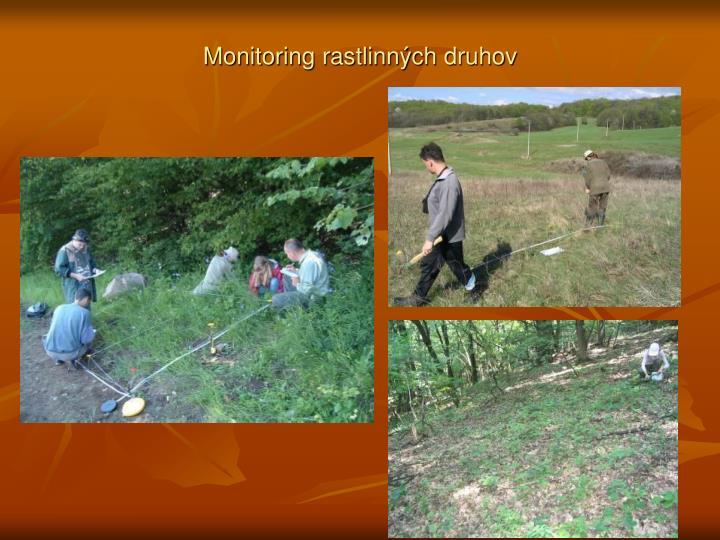 Monitoring rastlinných druhov