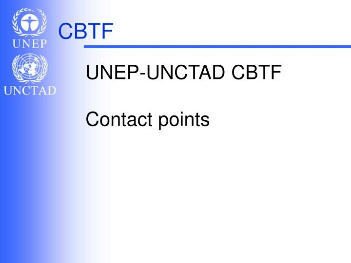 UNEP-UNCTAD CBTF