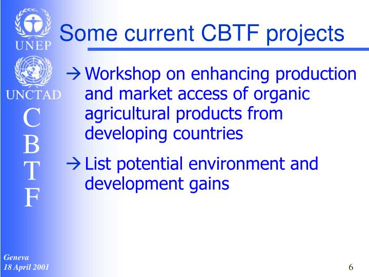 Some current CBTF projects