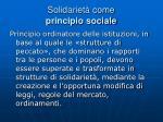 solidariet come principio sociale