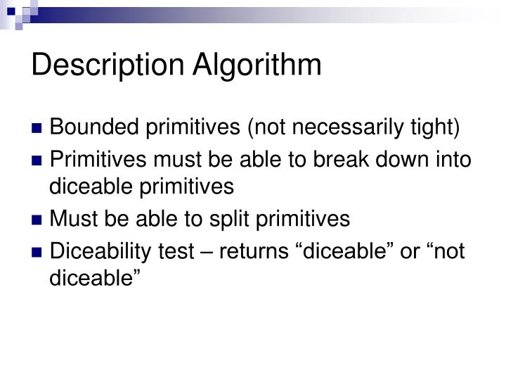 Description Algorithm