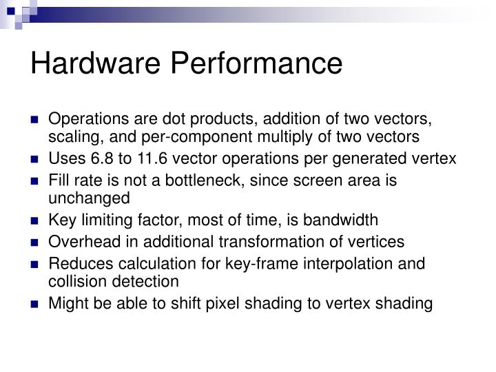 Hardware Performance