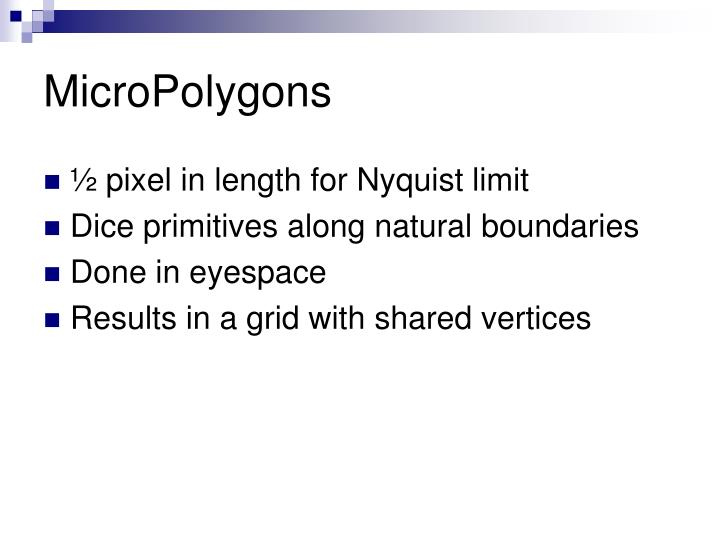 MicroPolygons