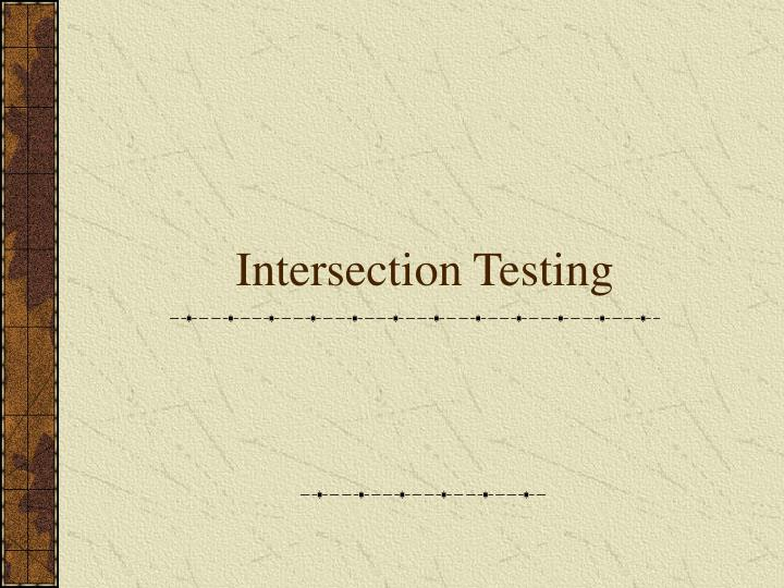 Intersection Testing