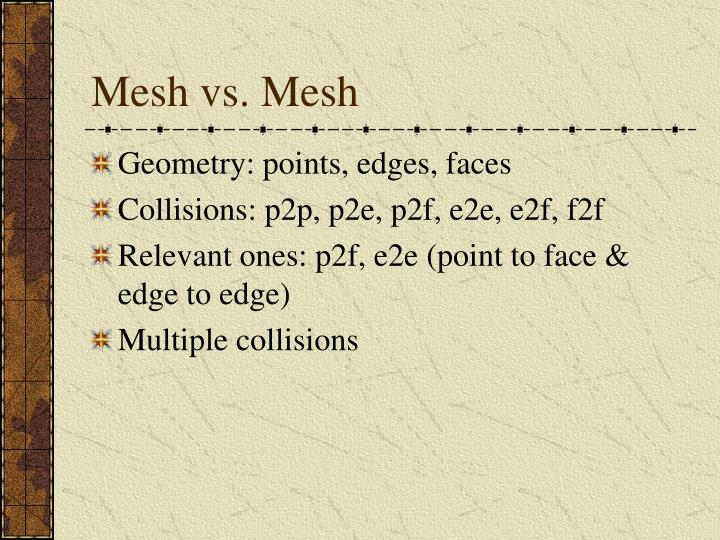 Mesh vs. Mesh