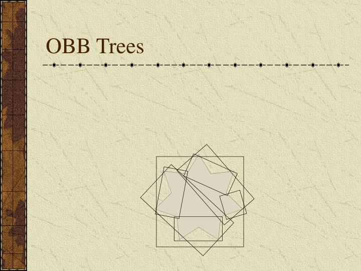 OBB Trees