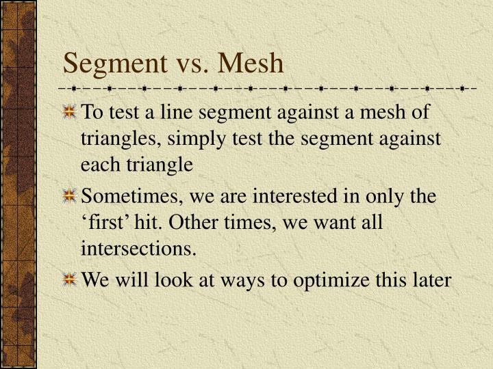 Segment vs. Mesh