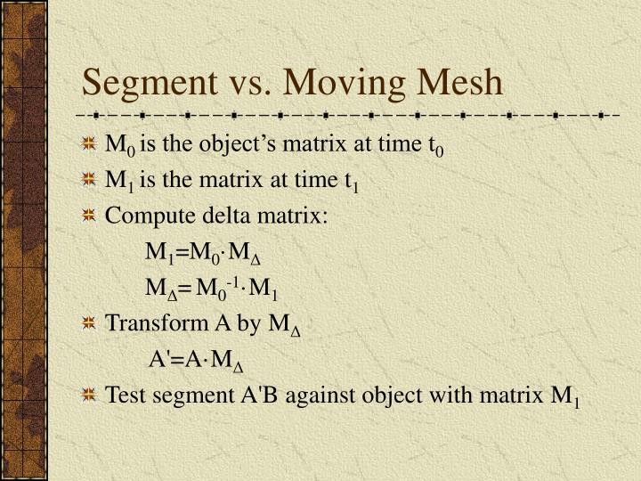Segment vs. Moving Mesh