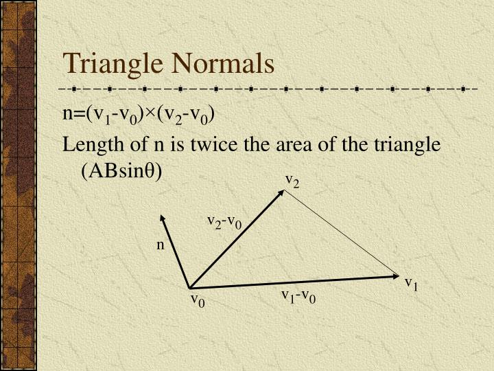 Triangle Normals