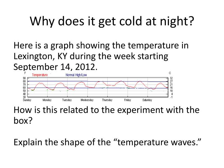 Why does it get cold at night?