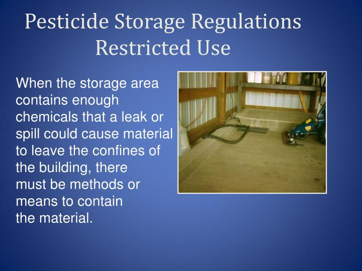 Pesticide Storage Regulations