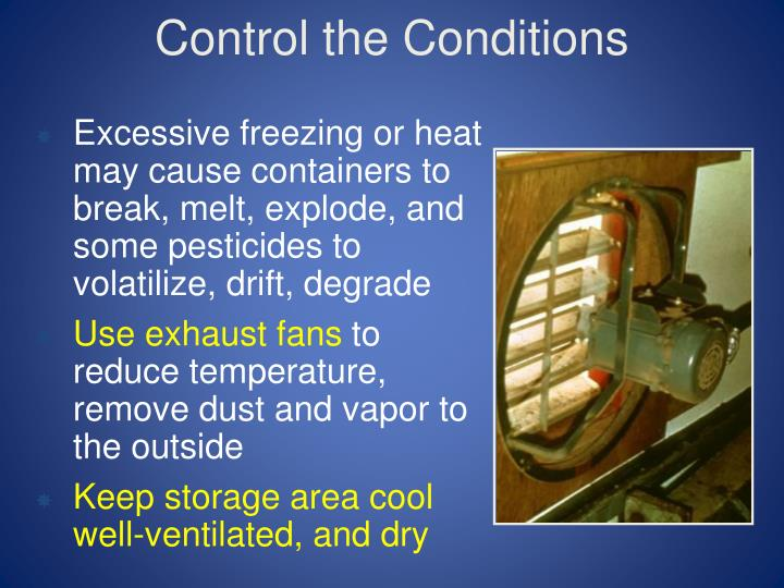 Control the Conditions